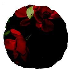 Roses 4 Large 18  Premium Round Cushions by timelessartoncanvas