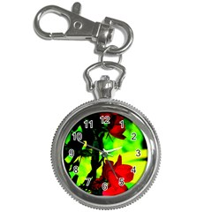 Red Roses And Bright Green 1 Key Chain Watches by timelessartoncanvas