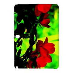 Red Roses And Bright Green 1 Samsung Galaxy Tab Pro 10 1 Hardshell Case by timelessartoncanvas