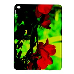 Red Roses And Bright Green 1 Ipad Air 2 Hardshell Cases by timelessartoncanvas