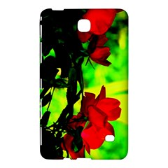 Red Roses And Bright Green 1 Samsung Galaxy Tab 4 (7 ) Hardshell Case  by timelessartoncanvas