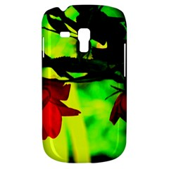Red Roses And Bright Green 2 Samsung Galaxy S3 Mini I8190 Hardshell Case by timelessartoncanvas