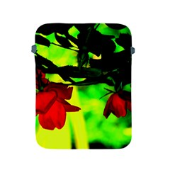 Red Roses And Bright Green 2 Apple Ipad 2/3/4 Protective Soft Cases by timelessartoncanvas