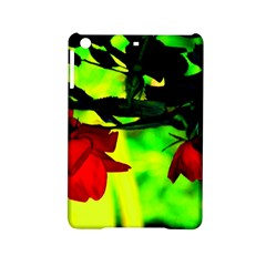 Red Roses And Bright Green 2 Ipad Mini 2 Hardshell Cases by timelessartoncanvas
