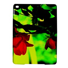 Red Roses And Bright Green 2 Ipad Air 2 Hardshell Cases by timelessartoncanvas