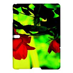 Red Roses And Bright Green 2 Samsung Galaxy Tab S (10 5 ) Hardshell Case  by timelessartoncanvas