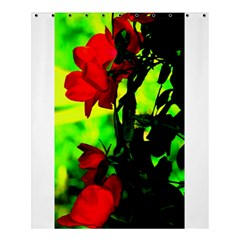 Red Roses And Bright Green 3 Shower Curtain 60  X 72  (medium)  by timelessartoncanvas