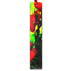 Red Roses And Bright Green 3 Large Book Marks by timelessartoncanvas