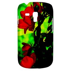 Red Roses And Bright Green 3 Samsung Galaxy S3 Mini I8190 Hardshell Case by timelessartoncanvas
