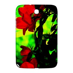 Red Roses And Bright Green 3 Samsung Galaxy Note 8 0 N5100 Hardshell Case  by timelessartoncanvas