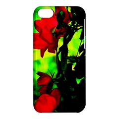 Red Roses And Bright Green 3 Apple Iphone 5c Hardshell Case by timelessartoncanvas