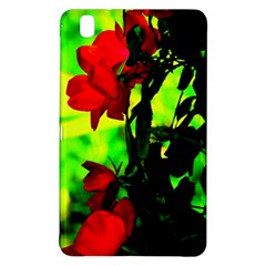 Red Roses And Bright Green 3 Samsung Galaxy Tab Pro 8 4 Hardshell Case by timelessartoncanvas