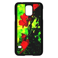 Red Roses And Bright Green 3 Samsung Galaxy S5 Case (black) by timelessartoncanvas
