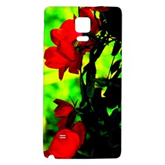 Red Roses and Bright Green 3 Galaxy Note 4 Back Case by timelessartoncanvas