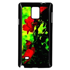 Red Roses And Bright Green 3 Samsung Galaxy Note 4 Case (black) by timelessartoncanvas