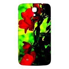 Red Roses And Bright Green 3 Samsung Galaxy Mega I9200 Hardshell Back Case