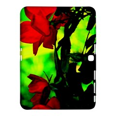 Red Roses And Bright Green 3 Samsung Galaxy Tab 4 (10 1 ) Hardshell Case  by timelessartoncanvas