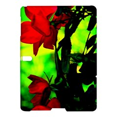 Red Roses And Bright Green 3 Samsung Galaxy Tab S (10 5 ) Hardshell Case  by timelessartoncanvas