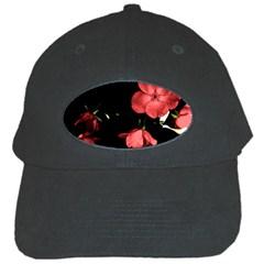 Mauve Roses 1 Black Cap by timelessartoncanvas