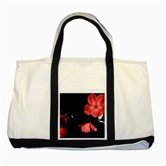 Mauve Roses 1 Two Tone Tote Bag by timelessartoncanvas