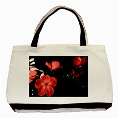 Mauve Roses 2 Basic Tote Bag by timelessartoncanvas