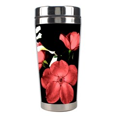 Mauve Roses 2 Stainless Steel Travel Tumblers by timelessartoncanvas