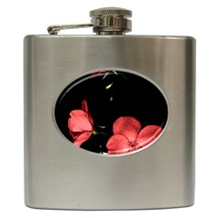 Mauve Roses 3 Hip Flask (6 Oz) by timelessartoncanvas