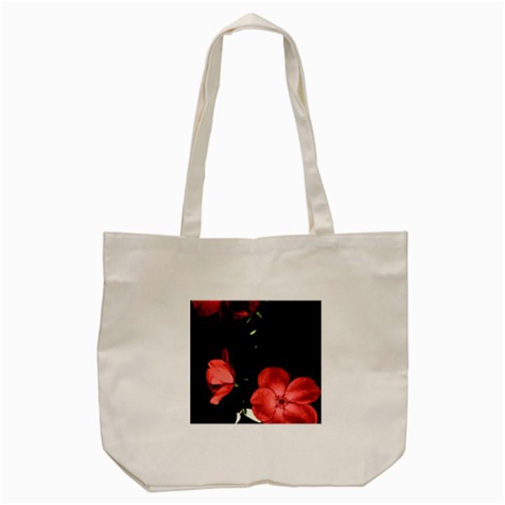 Mauve Roses 3 Tote Bag (Cream)