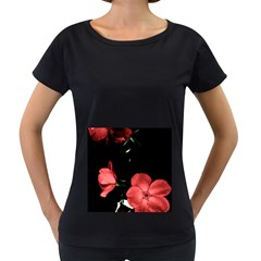 Mauve Roses 3 Women s Loose Fit T Shirt (black) by timelessartoncanvas