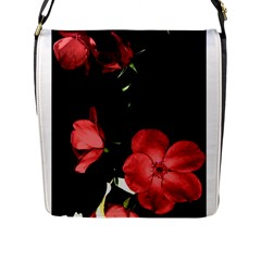 Mauve Roses 3 Flap Messenger Bag (l)  by timelessartoncanvas