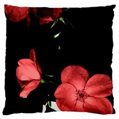 Mauve Roses 3 Large Flano Cushion Case (one Side) by timelessartoncanvas