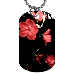 Mauve Roses 4 Dog Tag (two Sides) by timelessartoncanvas