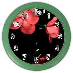 Mauve Roses 4 Color Wall Clocks by timelessartoncanvas