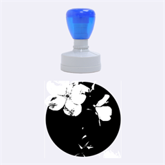 Mauve Roses 4 Rubber Round Stamps (medium) by timelessartoncanvas