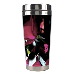 Mauve Pink Roses Stainless Steel Travel Tumblers by timelessartoncanvas