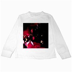 Pink Roses Kids Long Sleeve T-Shirts by timelessartoncanvas