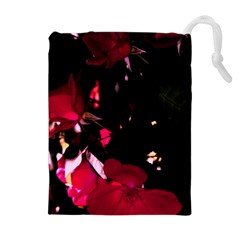 Pink Roses Drawstring Pouches (Extra Large) by timelessartoncanvas