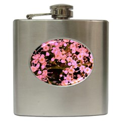 Little Mauve Flowers Hip Flask (6 Oz) by timelessartoncanvas