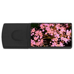 Little Mauve Flowers Usb Flash Drive Rectangular (4 Gb)  by timelessartoncanvas