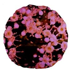 Little Mauve Flowers Large 18  Premium Round Cushions by timelessartoncanvas