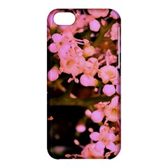 Little Mauve Flowers Apple Iphone 5c Hardshell Case by timelessartoncanvas