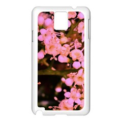 Little Mauve Flowers Samsung Galaxy Note 3 N9005 Case (white) by timelessartoncanvas