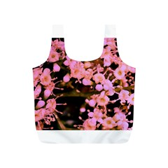 Little Mauve Flowers Full Print Recycle Bags (s)  by timelessartoncanvas