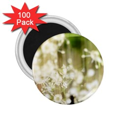 Little White Flowers 2 25  Magnets (100 Pack)  by timelessartoncanvas