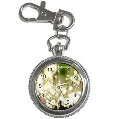 Little White Flowers Key Chain Watches by timelessartoncanvas
