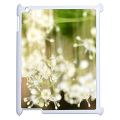 Little White Flowers Apple Ipad 2 Case (white) by timelessartoncanvas
