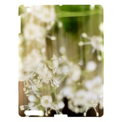 Little White Flowers Apple Ipad 3/4 Hardshell Case by timelessartoncanvas