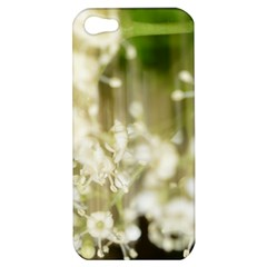 Little White Flowers Apple Iphone 5 Hardshell Case by timelessartoncanvas