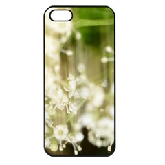 Little White Flowers Apple Iphone 5 Seamless Case (black) by timelessartoncanvas