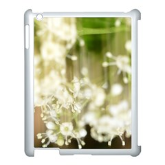 Little White Flowers Apple Ipad 3/4 Case (white) by timelessartoncanvas